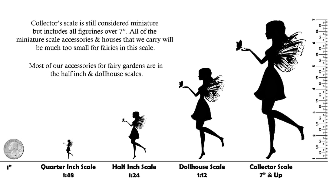 Size chart for Fairy Figurines