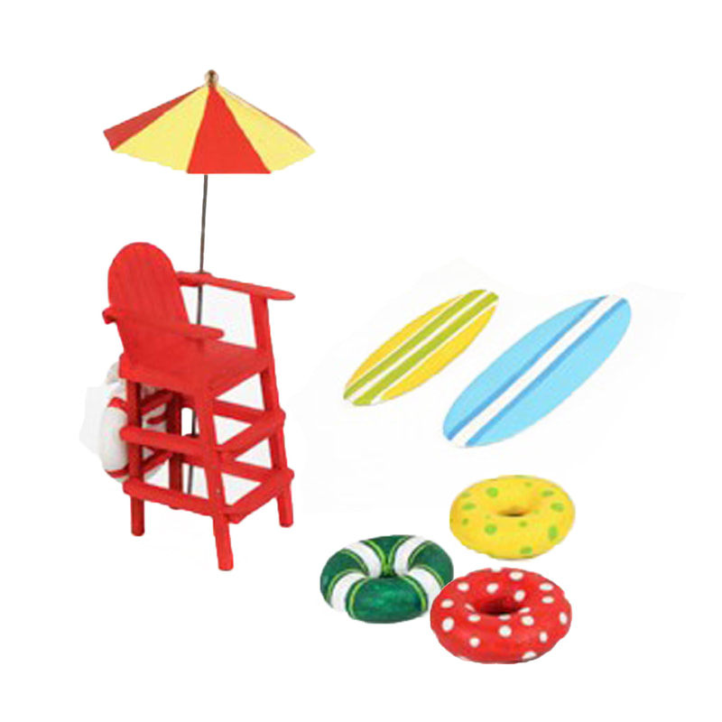 Fairy Garden Beach Lifeguard Set