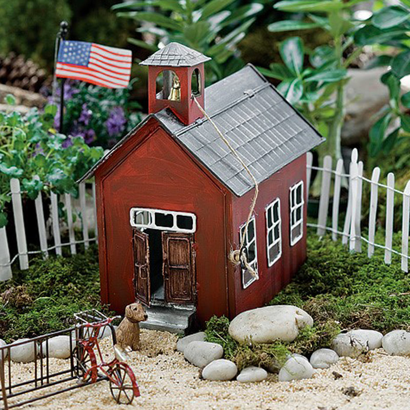 Mini Rustic Schoolhouse for Fairies